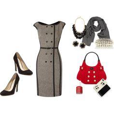 Love, love, love the dress & handbag
