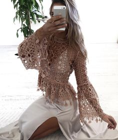 Lace On Lace Top // @lydianna