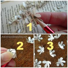 Create Your Own Spring-Flowering Branches :: A Book Page Flower Tutorial - An Extraordinary Day