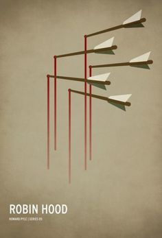 Robin Hood, Minimalist Posters for Your Favorite Children's Stories by Christian Jackson