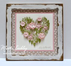 Inch of Creativity: Occasions Catalogue Blog Hop - LOTS OF instruction not only on the heart & flowers, but how the frame was finished!!!