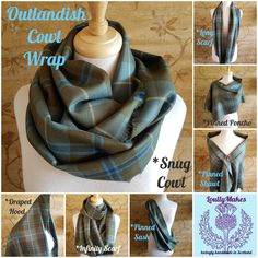 Shining a wee spotlight on the LoullyMakes Outlandish Cowl Wrap, today ! ...you can see that the possibilities of how to wear your Cowl Wrap are many - Im sure you stylish people will create many more options !  Lovingly Handmade, here in Dunbar, by me, using 100% lightweight wool tartan, woven in Scotland.  A selection of styles and tartans are available now in my Outlandish Collection on Etsy and Online  #LoullyMakes #Handmade #MadeinScotland #KeepitReal #GNKfamily