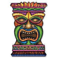Jointed Tiki Totem Pole is perfect for your next luau party. This Jointed Tiki Totem Pole is jointed for easy shipping and storage. Décor Tiki, Totem Tiki, Tiki Art, Luau Decorations, Party Decoration, Tiki Maske, Tiki Faces, Tiki Head, Luau Theme Party