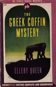The Greek Coffin Mystery by Ellery Queen Pocket Books #179, 1945; bought 7/26/14