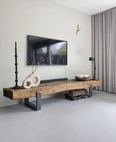 Living Room Decor Cozy, Living Room Tv, Living Room Interior, Home And Living, Home Room Design, Home Interior Design, Living Room Designs, Woodworking Inspiration, Style Deco