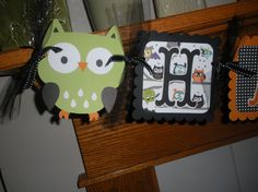 Owl Happy Halloween Birthday Banner or Happy Halloween by PartysOn, $28.00