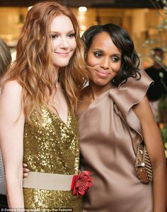 Chic co-stars: Kerry and co-star Darby Stanchfield upped the fashion factor