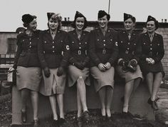 "When WWII broke out in 1942, Lee Miller (2d from the right) became a war correspondent for ""Vogue"" and one of the only female photojournalists to cover the front line in Europe. Talented and brave, her photos documented life at the front -- including US liberation of concentration camps. // In Vogue - Purple Clover - Purple Clover"