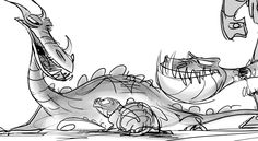 Living Lines Library: How To Train Your Dragon (2010) - Storyboards, Pack I by Toby Shelton
