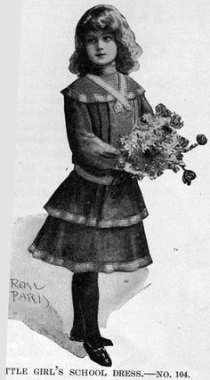 Little girls' school dress, Harper's Bazaar- 1905