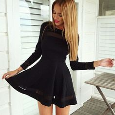 High Waist style Stretchde the leg line, Long Sleeve and black makes you attractive figure