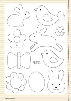 Free templates from your april issue papercraft inspirations easter clipart ideas Easter Crafts, Felt Crafts, Crafts For Kids, Easter Ideas, Applique Templates, Applique Patterns, Easter Templates, Bird Template, Owl Templates