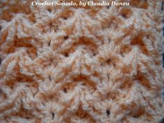 CROCHET DIVERTIMENTO with frontpost & backpost stitches / con realce derecho y revés - YouTube