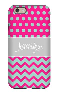 Come shop this Half Chevron Polka Dot Personalized iPhone 6 Tough Case at http://www.putacaseon.me/products/half-chevron-polka-dot-personalized-iphone-6-tough-case . Using our custom case tool you can design your case exactly how you want it.