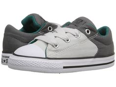 Converse Kids Chuck Taylor® All Star® High Street Slip (Infant/Toddler) Thunder/Mouse/Rebel Teal - Zappos.com Free Shipping BOTH Ways