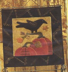 Primitive Folk Art Wool Applique Table Mat by PrimFolkArtShop, $6.00