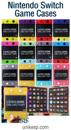 Keep your video safe and organized with the UniKeep Video Game Storage Binders. A great gift for gamers of all ages, this case binder sports stylish gaming themed, digitally printed design and keeps your games at your fingertips. Video Game Organization, Video Game Storage, Organization Ideas, Star Citizen, Video Game Rooms, Video Games, Nintendo Switch Animal Crossing, Game Room Kids, Nintendo Switch Accessories