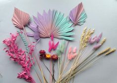 Dried Flower Arrangements, Dried Flowers, Paper Flowers, Flower Cake Toppers, Birthday Cake Toppers, Rainbow Wedding Decorations, Tall Wedding Centerpieces, Design Your Own Cake, Protea Flower