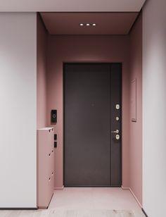 A striking example of interior design in pink and gray (Interior Design Ideas) Grey Interior Design, Interior Design Kitchen, Interior Decorating, Decorating Games, Decorating Websites, Kitchen Decor, Colour Blocking Interior, Interior Design Studio, Kitchen Designs