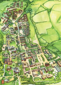 15 Best Illustrated Campus Maps Images Campus Map Blue Prints Cards
