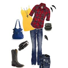 country dressed, but with a black tank. Not yellow Country Wear, Country Dresses, Country Outfits, Camo Outfits, Cowgirl Outfits, Western Outfits, Winter Wear, Autumn Winter Fashion, Camo Clothes