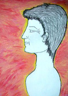RETRATOS. Aprender a ver es ESTAR PRESENTES. Dibujo de Lucía Oyarzabal.
