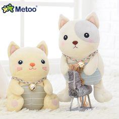 Peluche dolce bello sveglio farcito capretti del bambino toys per le ragazze cani gatti belli bambola di compleanno regalo di natale kawaii mini metoo bambola