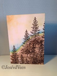 Stampin' Up Landscape used Lovely As A Tree. |24