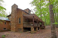 North Georgia Log Cabin - rustic - Exterior - Atlanta - Clark & Zook Architects, LLC