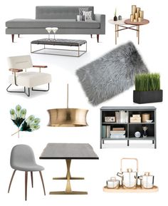 """""""Grey Case"""" by raffaellapapami on Polyvore featuring interior, interiors, interior design, home, home decor, interior decorating, Design Within Reach, ferm LIVING, Madison Park and Riedel"""