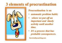 3 elements of procrastination Executive Presence, Equal Opportunity, Time Management, Equality, Affirmations, Coaching, About Me Blog, Social Equality, Equation