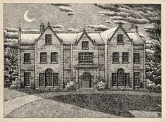 The Mezzotint by M.S. Corley on deviantART. This is a moving GIF, which would probably amuse M.R. James. Click through to see it move. You should also read James' ghost story of the same name (if you haven't read that one) to understand why this is cute.