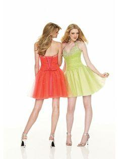 Tulle Halter Sweetheart Short Cocktail Dress