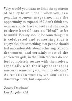 This Famous Actress Was A Teenage Feminist And Proud Of It - Zooey Deschanel writes to Vogue at 17.