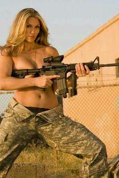 shoting with tits big guns Women