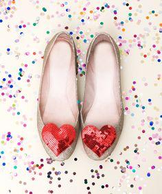 clip à chaussure coeur