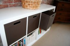Ikea Expedit Bookcase Meets Target Itso Bin
