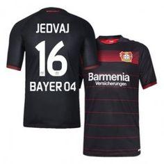 Bayer Leverkusen 16-17 Season Home Black #16 JEDVAJ Soccer Jersey [H254]