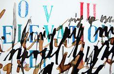 Elevation [caligrafía gestual] detalle