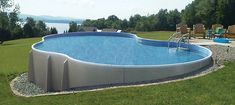 Semi-above ground pool we found. Looks perfect if you have hills in your yard!