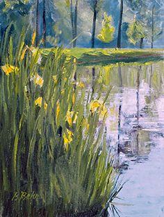 "Late Blooms in Early Light by Brenda Behr Oil ~ 12"" x 9"""