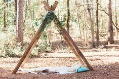 Rustic in the wood outdoor wedding ceremony venue