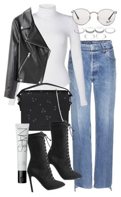 """""""Untitled #20994"""" by florencia95 ❤ liked on Polyvore featuring Ray-Ban, AllSaints, adidas Originals, NARS Cosmetics and Acne Studios"""