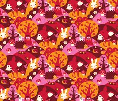 Little Forest fabric by bora on Spoonflower - custom fabric