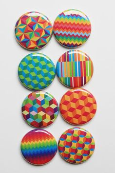 Geoshapes Flair by aflairforbuttons on Etsy, $6.00 #aflairforbuttons #flair #flairbuttons