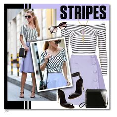 """""""Striped Shirt"""" by jgee67 ❤ liked on Polyvore featuring Carven, Topshop, Cole Haan, Kendra Scott, Taylor Morris and stripes"""