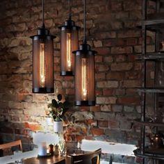 Retro-Metal-Mesh-Net-Retro-Pendant-Lamp-Iron-Aisle-Hanging-Light-Porch-Loft-1PC