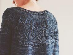 Waking Tide Pullover pattern by Courtney Spainhower. malabrigo Twist.