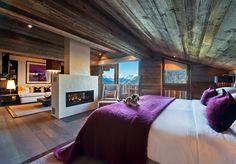 Richard Branson's Verbier lodge. Chalet Style arhitecture; interior; home; design; apartment; Fireplaces