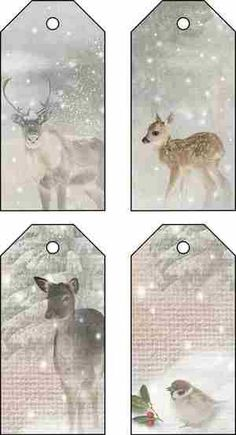 free download Xmas deer tags